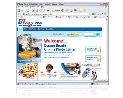 Duane Reade On-Line Photo Center